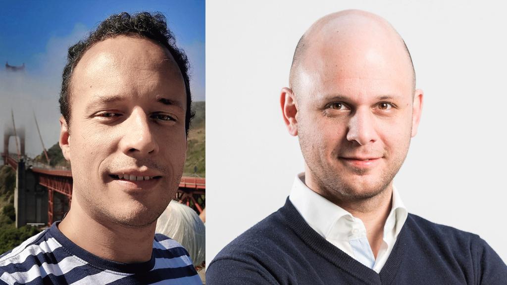 Balra Kreisz Norbert (Device Management CoE Lead), jobbra Szegedin András (Digital Funnel Area Lead)