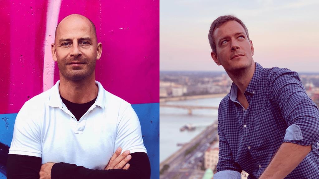 Balra Pálóczi Tamás, a Design Hub DT központvezetője, jobbra Hosszú Zoltán vezető designer